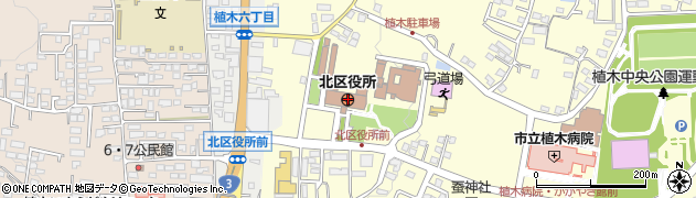 熊本県熊本市北区周辺の地図