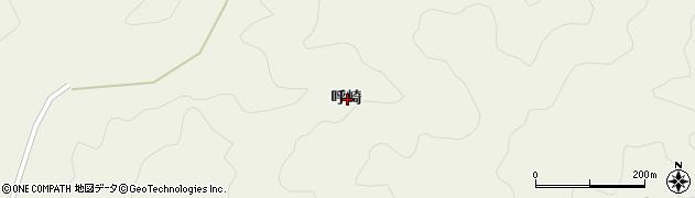 高知県宿毛市小筑紫町呼崎周辺の地図