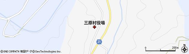 高知県三原村(幡多郡)周辺の地図
