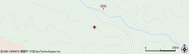 大分県佐伯市本匠大字山部樫峰周辺の地図
