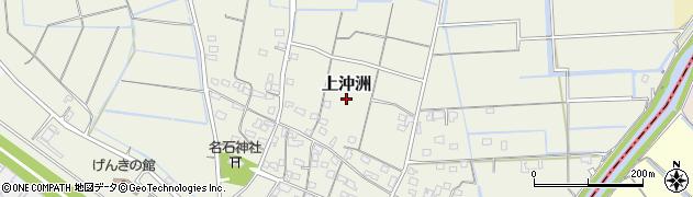 熊本県長洲町(玉名郡)上沖洲周辺の地図