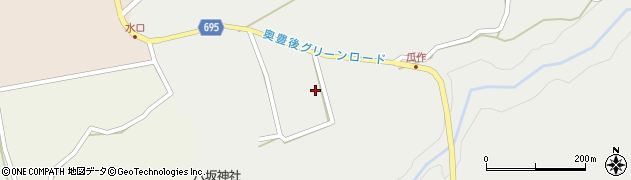 大分県竹田市荻町瓜作瓜作周辺の地図