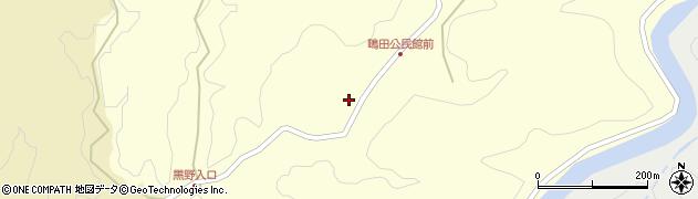 大分県竹田市荻町鴫田6490周辺の地図