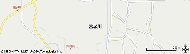 高知県三原村(幡多郡)宮ノ川周辺の地図