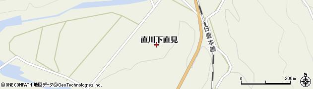 大分県佐伯市直川大字下直見道越周辺の地図