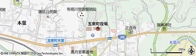 熊本県玉東町(玉名郡)周辺の地図