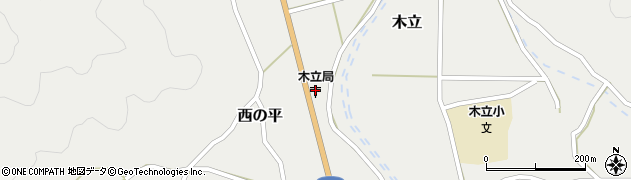 大分県佐伯市木立1407周辺の地図
