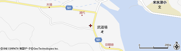 大分県佐伯市米水津大字浦代浦1243周辺の地図