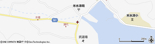 大分県佐伯市米水津大字浦代浦1239周辺の地図