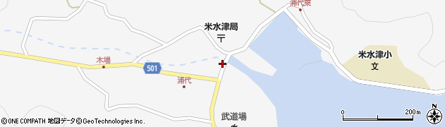 大分県佐伯市米水津大字浦代浦56周辺の地図