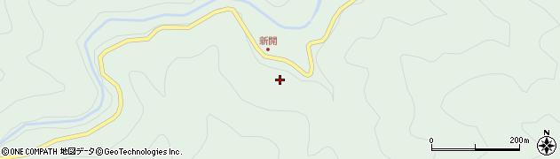 大分県佐伯市本匠大字山部新開周辺の地図