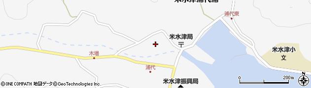 大分県佐伯市米水津大字浦代浦757周辺の地図