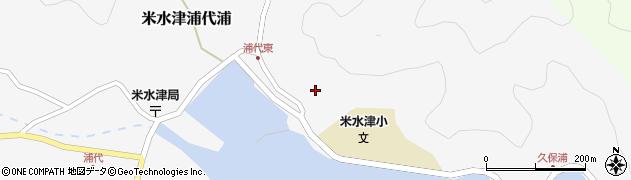 大分県佐伯市米水津大字浦代浦154周辺の地図
