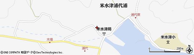 大分県佐伯市米水津大字浦代浦707周辺の地図