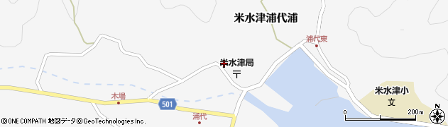 大分県佐伯市米水津大字浦代浦725周辺の地図