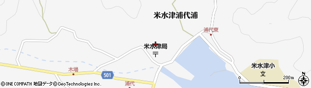 大分県佐伯市米水津大字浦代浦714周辺の地図