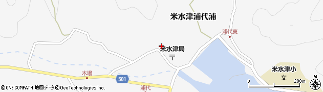 大分県佐伯市米水津大字浦代浦724周辺の地図