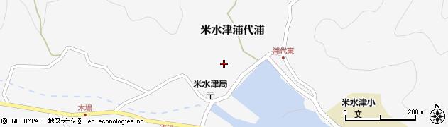 大分県佐伯市米水津大字浦代浦638周辺の地図