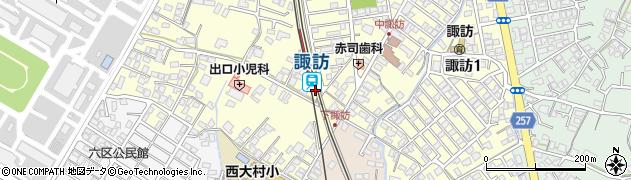 長崎県大村市周辺の地図