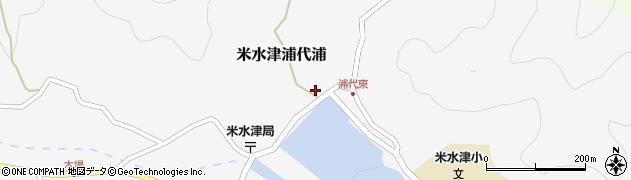 大分県佐伯市米水津大字浦代浦1860周辺の地図