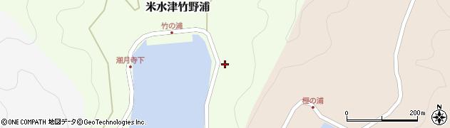 大分県佐伯市米水津大字竹野浦696周辺の地図