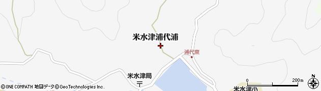 大分県佐伯市米水津大字浦代浦596周辺の地図
