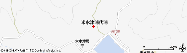 大分県佐伯市米水津大字浦代浦619周辺の地図
