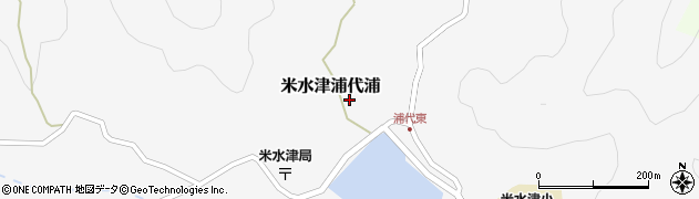 大分県佐伯市米水津大字浦代浦585周辺の地図