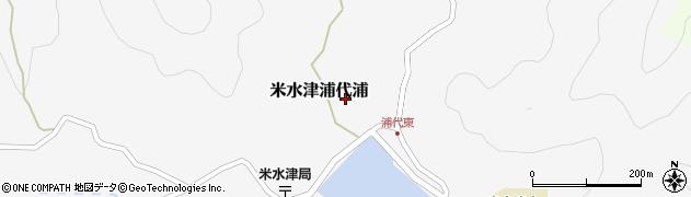 大分県佐伯市米水津大字浦代浦589周辺の地図