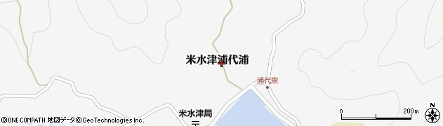 大分県佐伯市米水津大字浦代浦606周辺の地図