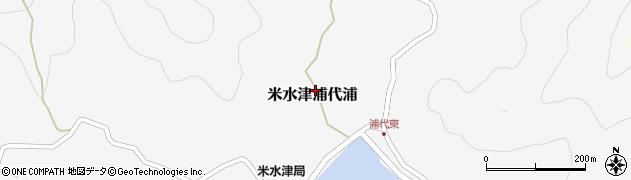 大分県佐伯市米水津大字浦代浦607周辺の地図