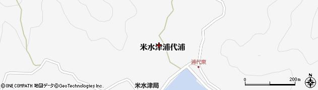 大分県佐伯市米水津大字浦代浦616周辺の地図