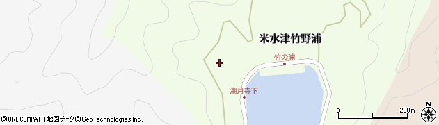 潮月寺周辺の地図