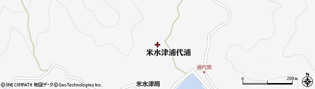 大分県佐伯市米水津大字浦代浦612周辺の地図