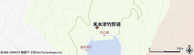大分県佐伯市米水津大字竹野浦257周辺の地図