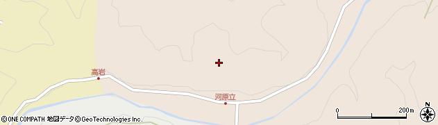 大分県竹田市岩本河原立周辺の地図