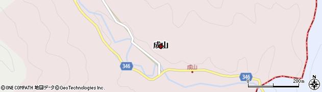 高知県三原村(幡多郡)成山周辺の地図