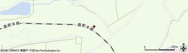 大分県竹田市荻町藤渡古賀周辺の地図