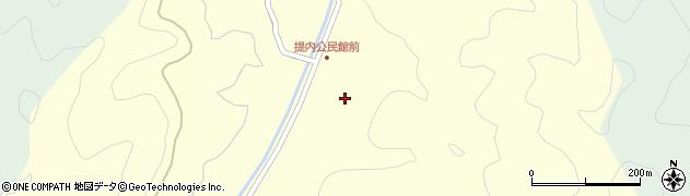 大分県佐伯市弥生大字提内388周辺の地図