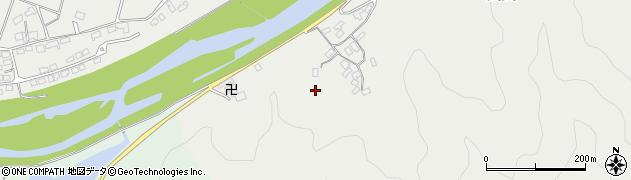 大分県佐伯市長良柏江区周辺の地図