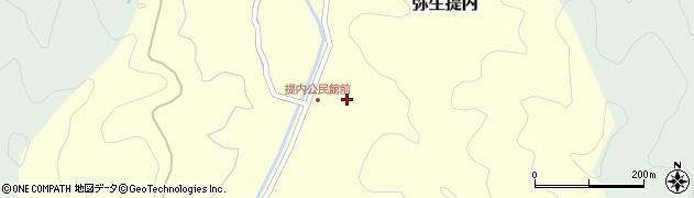 大分県佐伯市弥生大字提内368周辺の地図