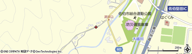 大分県佐伯市長谷5404周辺の地図