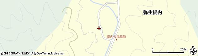 大分県佐伯市弥生大字提内1193周辺の地図