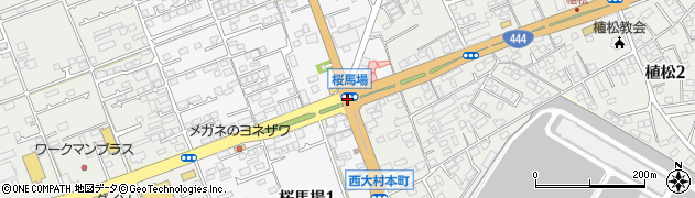 桜馬場周辺の地図