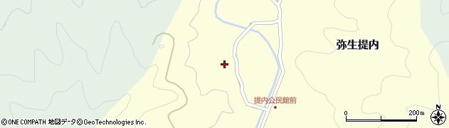 大分県佐伯市弥生大字提内1205周辺の地図