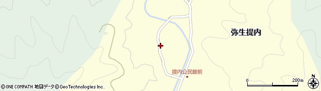 大分県佐伯市弥生大字提内1186-1周辺の地図