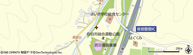 大分県佐伯市長谷上城区周辺の地図