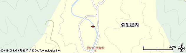 大分県佐伯市弥生大字提内1169周辺の地図