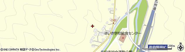 大分県佐伯市長谷小谷周辺の地図