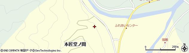大分県佐伯市本匠大字堂ノ間366周辺の地図